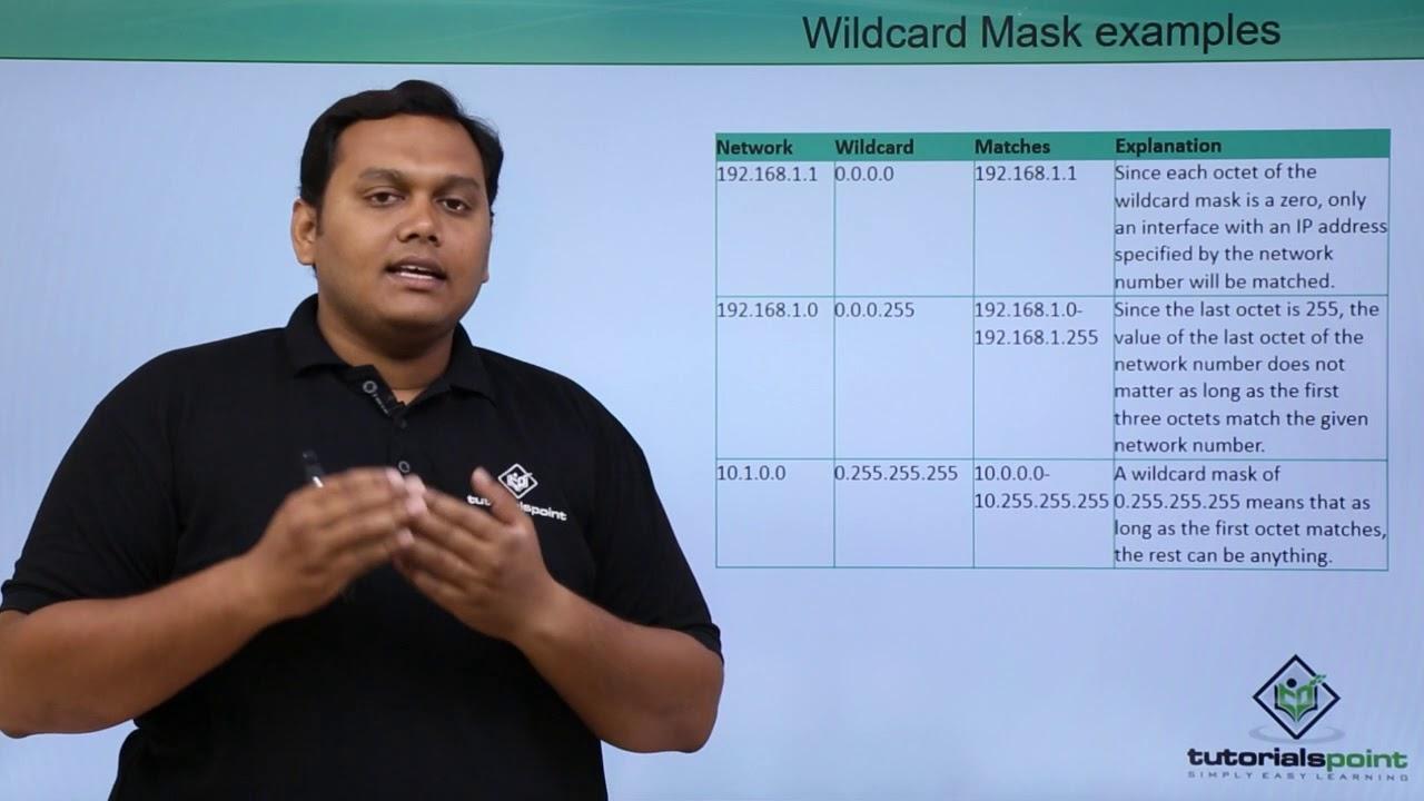 Understanding the wildcard mask youtube.