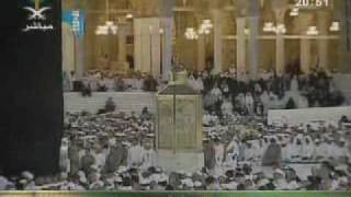 Sheikh Al Juhany leading his first salat in Makkah as permanent Imam of Makkah.