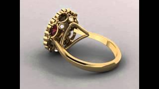 Jewellery CAD modeling, rendering and animation on MATRIX software- IIGJ, Mumbai