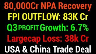 🔴🔴 NPA Recover | Profit Growth | FPI Outflow | Trade Deal - Live Q&A with Nitin Bhatia (HINDI)