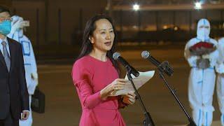 GLOBALink | Meng Wanzhou back in China