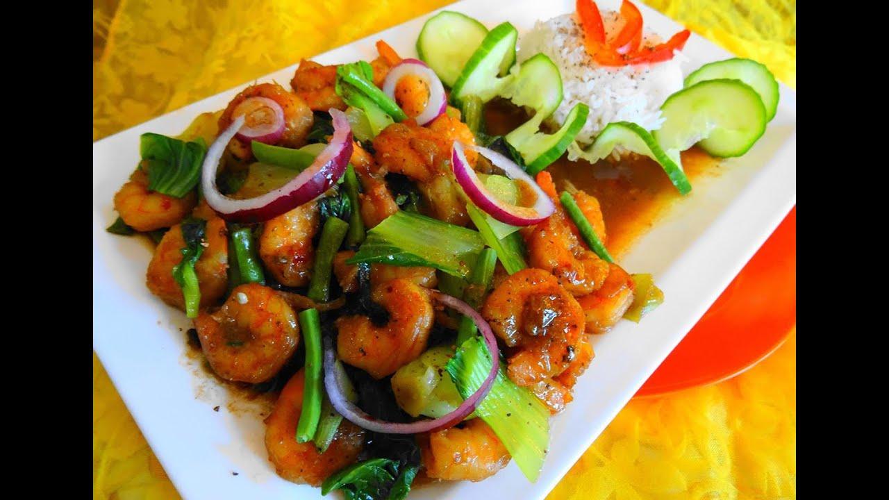 gerecht met garnalen en rijst