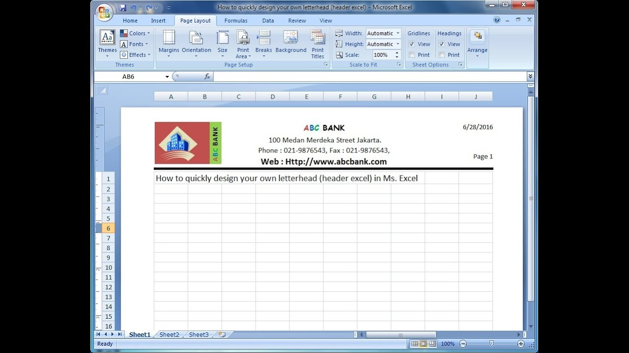 Ediblewildsus  Picturesque Microsoft Excel Training How To Quickly Design Your Own  With Glamorous Microsoft Excel Training How To Quickly Design Your Own Letterhead Excel Header In Ms Excel With Captivating Scenario Excel Also Excel Online High School Reviews In Addition Excel Standard Error Bars And Separating Data In Excel As Well As How To Protect Excel Sheet Additionally Excel To Sqlite From Youtubecom With Ediblewildsus  Glamorous Microsoft Excel Training How To Quickly Design Your Own  With Captivating Microsoft Excel Training How To Quickly Design Your Own Letterhead Excel Header In Ms Excel And Picturesque Scenario Excel Also Excel Online High School Reviews In Addition Excel Standard Error Bars From Youtubecom