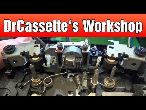 DrCassette's Workshop - Fisher Z1 cassette deck repairs