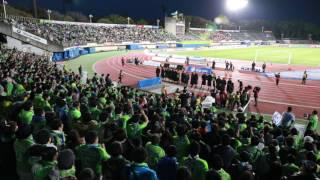 湘南ベルマーレのホーム開幕戦勝利を祝う打ち上げ花火と共に。