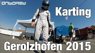 karting gerolzhofen 2015 kart honda gx270 11hp full race onboard
