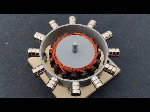 Free Energy Generator Using Powerful Magnetic Force