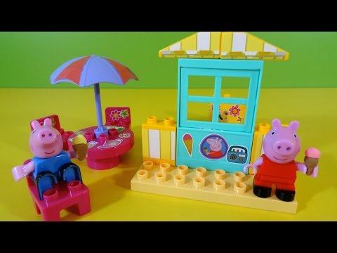Peppa Pig Jugando con la Heladería y cucuruchos con Play-Doh Videos De Viajes