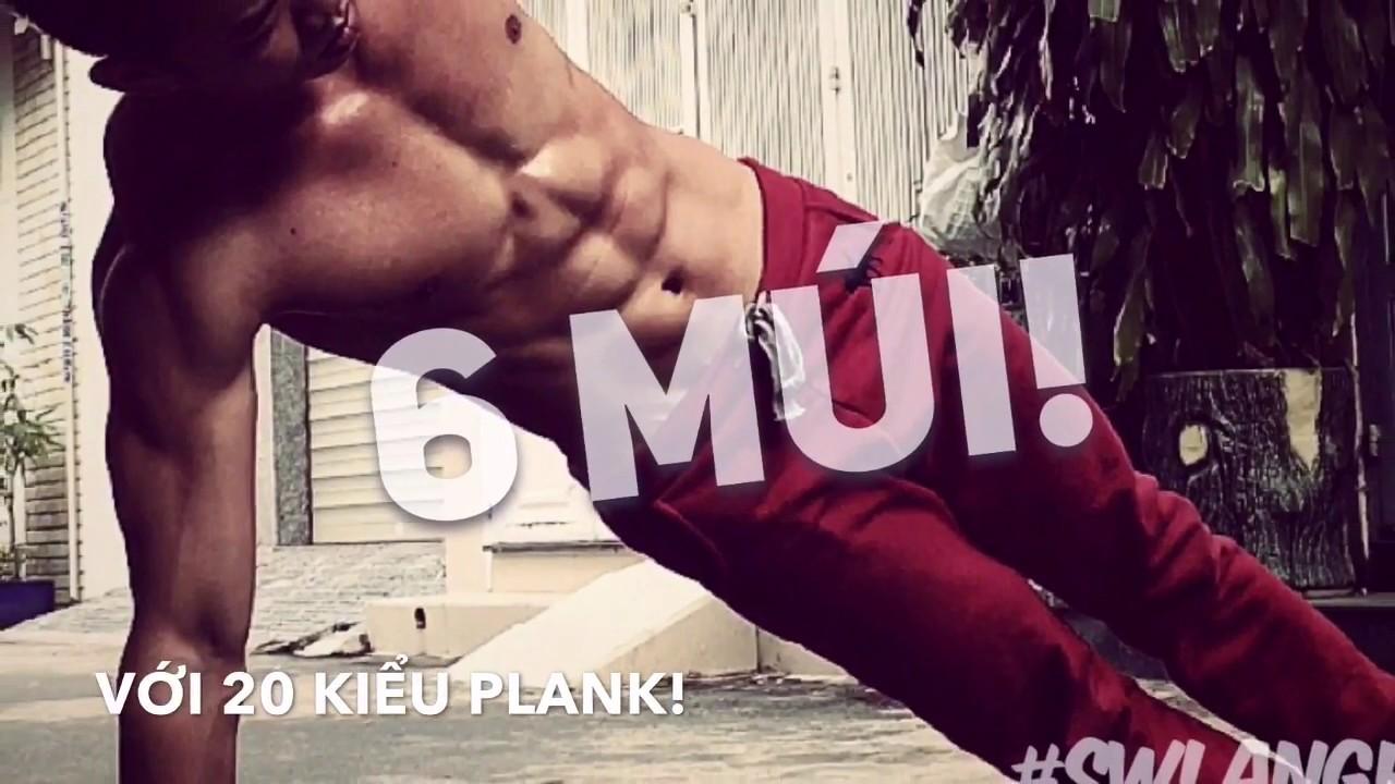 Tập bụng trong 3 phút với 20 sắc thú PLANK – Plank Variations 👍 | Street Workout Làng Hoa