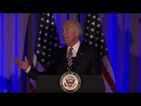 VP Joe Biden delivers heartfelt speech on stuttering at AIS Gala