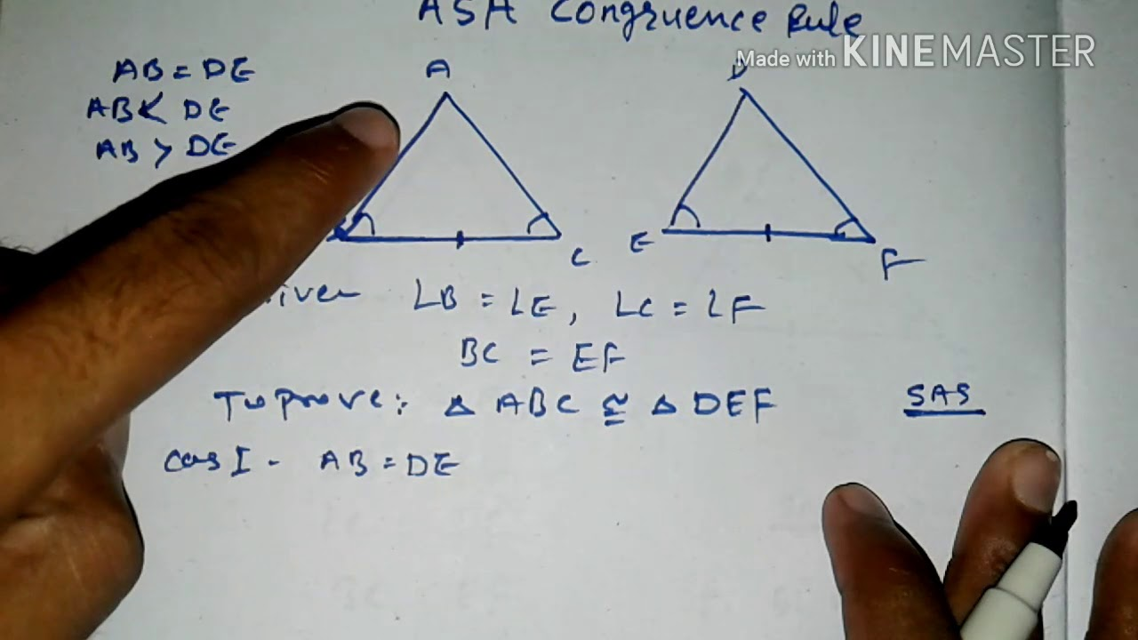 Asa Congruence Rule Class 9 Geometry Hindi Youtube