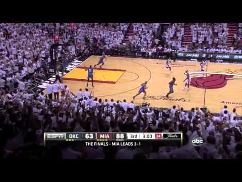 Mike Miller Seven 3 pointers Game 5 of 2012 NBA finals