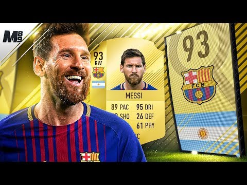 FIFA 18 MESSI REVIEW   93 MESSI PLAYER REVIEW   FIFA 18 ULTIMATE TEAM