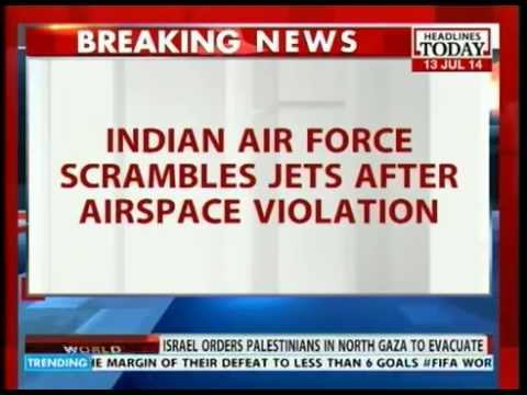 Turkish airplane violates Indian Air Space