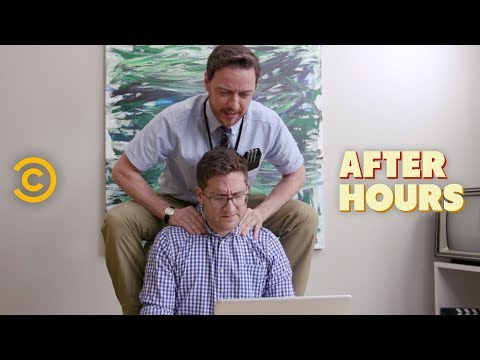 Office Erotic Asphyxiation with James McAvoy  After Hours with Josh Horowitz