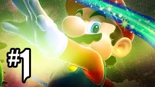 Super Mario Galaxy 2 Gameplay Walkthrough Part 1 - MARIO+GHOSTROBO=?!