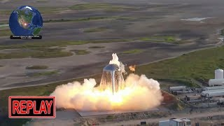 REPLAY: SUCCESS! SpaceX Starhopper's final flight, 150m hop test!