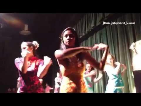 Tahitian dancers at Sir Francis Drake High School.