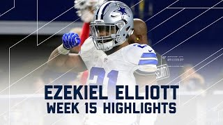 Ezekiel Elliott Leads Cowboys to Victory with 159 Yards & 1 TD! | NFL Week 15 Player Highlights