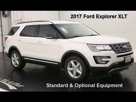 2017 Ford Explorer XLT -Standard & Optional Equipment
