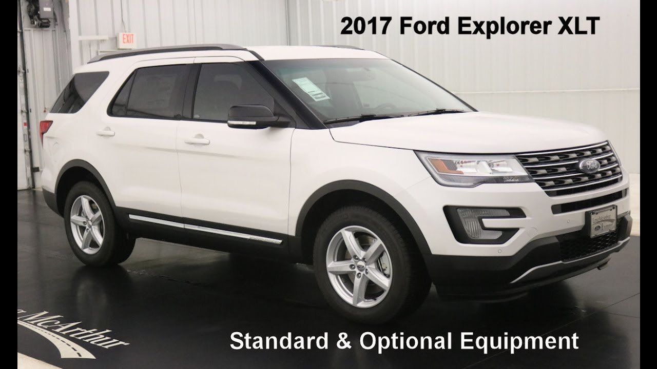 2017 ford explorer xlt standard optional equipment youtube. Black Bedroom Furniture Sets. Home Design Ideas