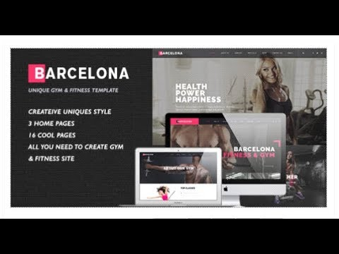 Barcelona - HTML/CSS Template for Fitness Gym and Fitness Centers | Themeforest Download