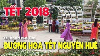 Đường Hoa Nguyễn Huệ 2018 đã hoàn tất chuẩn bị Khai Mạc 19h ngày 28 Tết có gì thú vị?