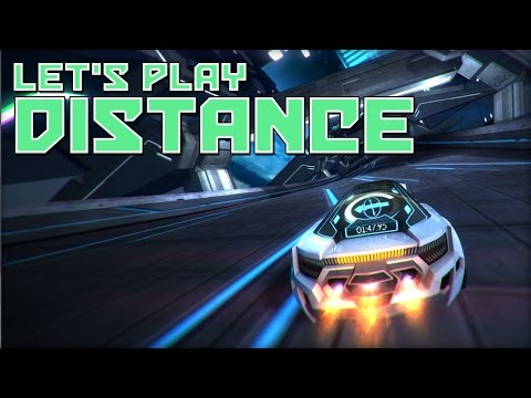 Let's Play Distance - Dystopian Future Racing Game