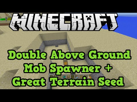 Minecraft Xbox + Playstation Seed: Double Mob Spawner Above Ground