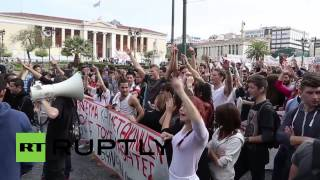 Greece: Students rage against cuts and campus security measures