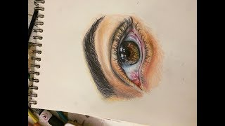 How To Draw REALISTIC EYE | Como Desenhar OLHO REALISTA com lápis de cor