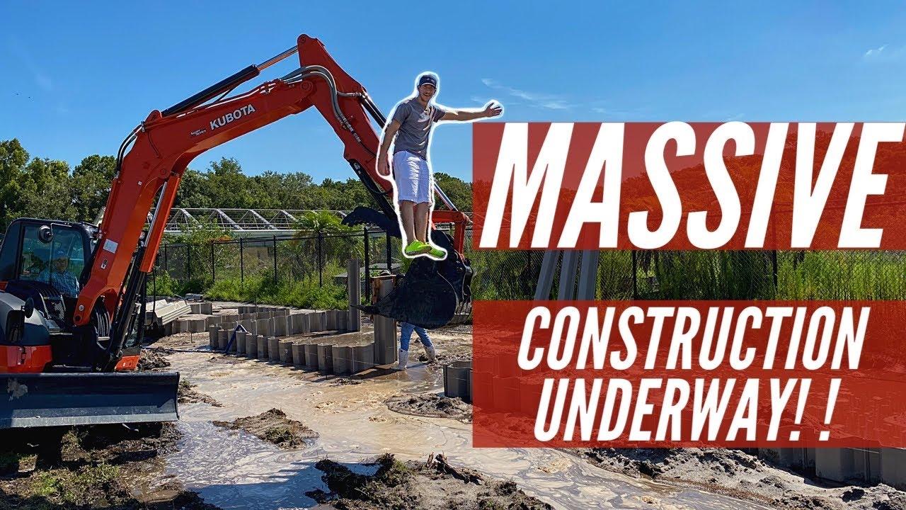 Building Crocodile Ponds at the new Sanctuary!