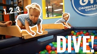 BABIES DIVE INTO BALL PIT HEAD FIRST!!!