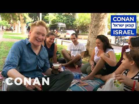 Conan Hits The Streets & Beaches Of Tel Aviv  - CONAN on TBS