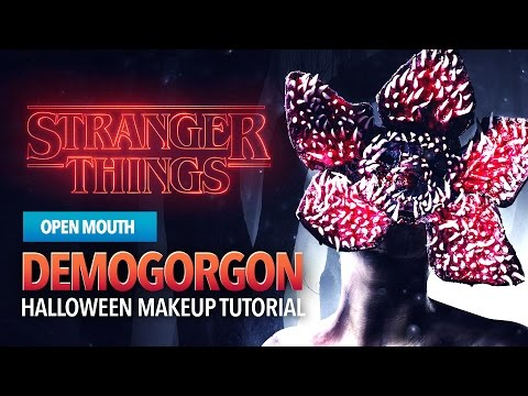 Stranger Things monster tutorial open mouth