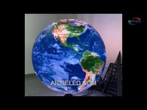 WIFI control round led ballIndoor LED Display Globe Soft Sphere Ball Screen, flexible led module dif