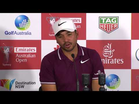 Jason Day chats after round one the 2017 Emirates Australian Open