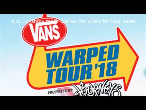 2018 will be the last year for the 'Vans Warped Tour' + 2018 dates released..