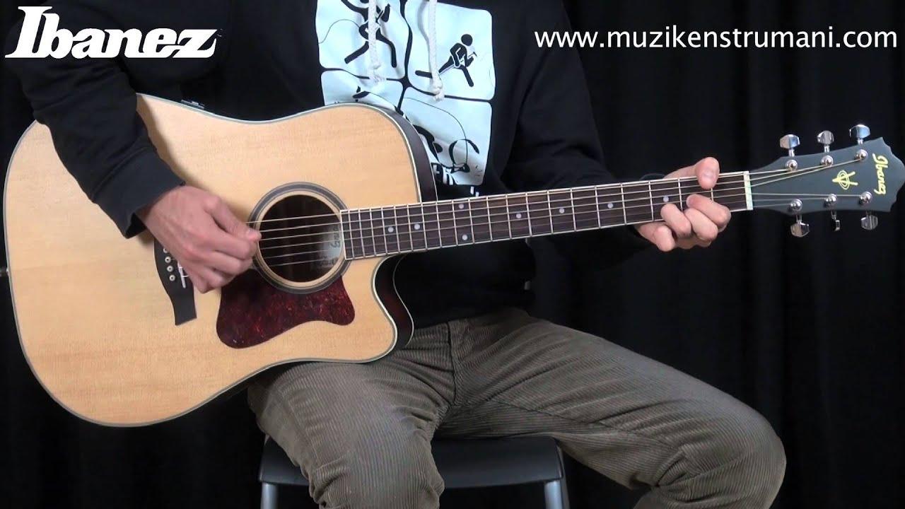 ibanez v74ece opn akustik gitar youtube