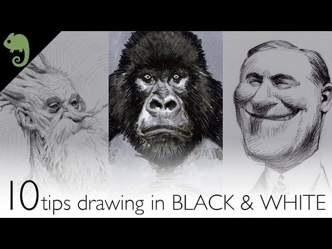 10 tips for drawing in black white
