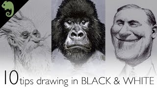 10 tips for drawing in BLACK & WHITE