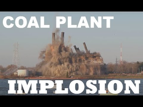 Marysville DTE Power Plant Implosion
