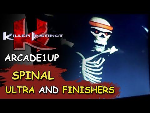 KILLER INSTINCT ARCADE1UP // SPINAL 32 HIT ULTRA and FINISHERS from JDCgaming