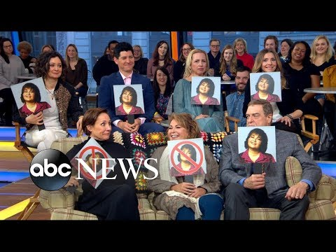 'Roseanne' cast faces off in trivia game on 'GMA'
