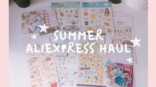 summer aliexpress haul | stationery, stickers