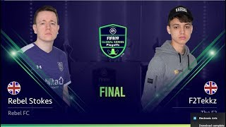 F2Tekkz faces Rebel Stokes in the semifinals of the FIFA Global Ser...