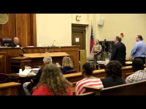Murder Defendant argues with Judge