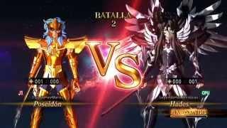 Saint Seiya Alma de Soldados Poseidon vs Hades Gameplay PS4 Español Latino