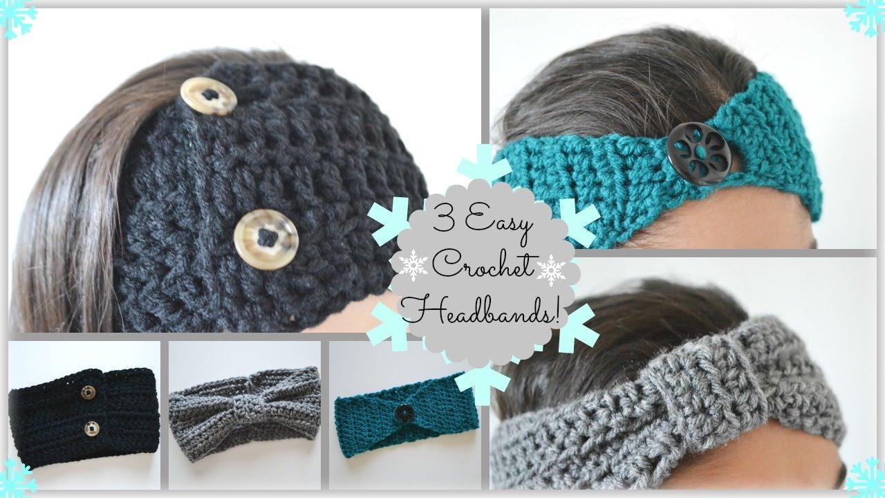 3 DIY Easy + Awesome Crochet Headbands!  f36f1b89177
