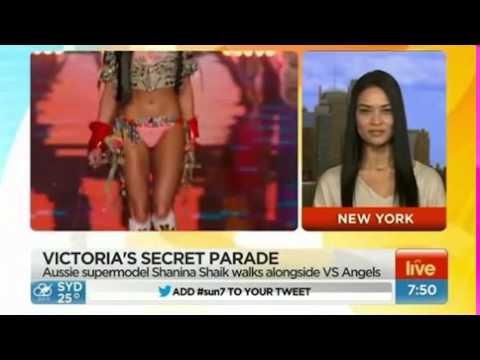 086139e02fa VS angel Shanina Shaik talks pre-runway... - YouTube